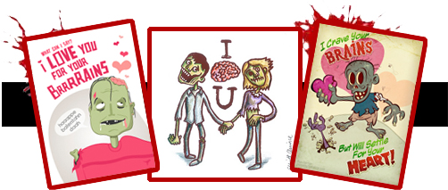 Free Zombie Valentines Day Cards – Zombie Valentines Cards